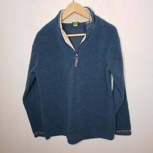 Cabela's Blue Quarter Zip Pullover Fleece